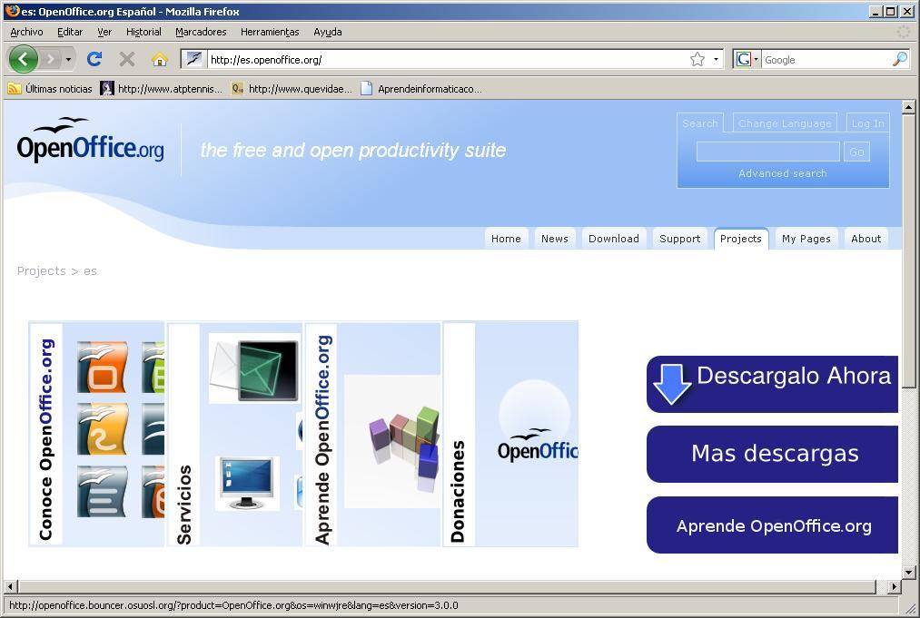 web de openoffice en español