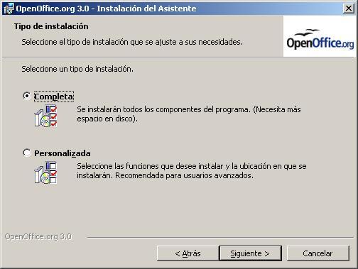 Instalacion completa de Openoffice 3