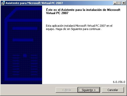 Instalación Virtual Pc 2007