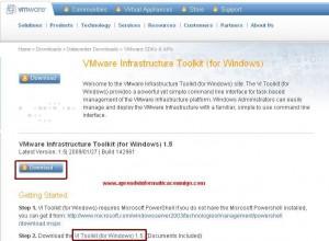 Instalar Vmware Infraestructure Toolkit para Windows
