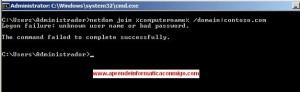 Windows Server 2008 Core – Meter en el dominio
