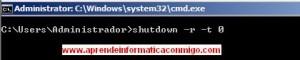Windows Server 2008 Core – Reiniciar el servidor