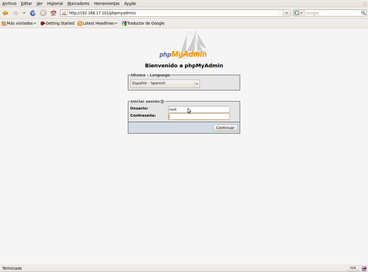 PhpMyAdmin – Crear usuario y base de datos