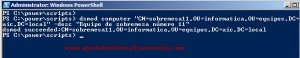Windows Server 2008 – Configurar atributos de equipo con Dsmod