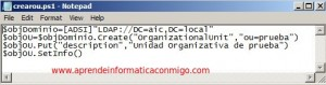 Crear Unidades Organizativas con Windows Powershell