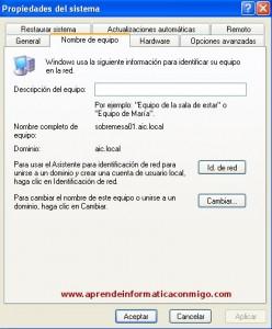 Windows Server 2008 – Renombrar un equipo