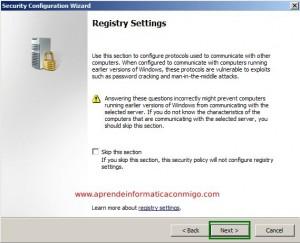 Windows Server 2008 – Utilizar el asistente para configuracion de seguridad – Parte 2