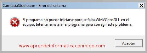 Error 1722 al instalar Camtasia Studio 7 en Windows 7