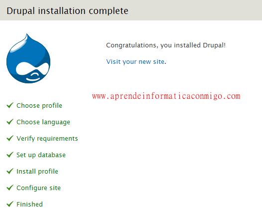 Instalación Drupal 7