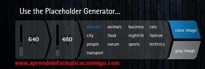 lorempixel - generador imagenes ejemplo para desarrollo web