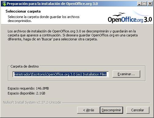 Instalacion de Openoffice 3