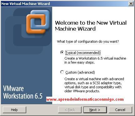 Creación de maquina virtual.