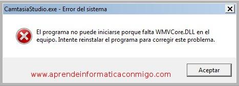 Error 1722 al instalar Camtasia Studio 7 en Windows 7