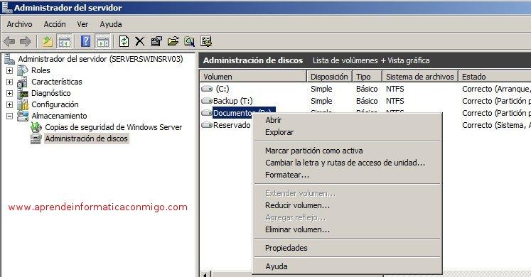 Habilitar y configurar instantáneas de volumen - www.xulak.com