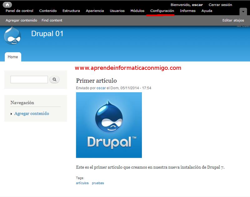Curso de Drupal 7 - 05 Informe de estado