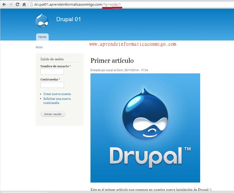 Curso de Drupal 7 - 04 Configurar urls limpias